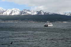Free The Beagle Channel Separating The Main Island Of The Archipelago Of Tierra Del Fuego And Lying To The South Of The Island. Royalty Free Stock Photo - 66296355