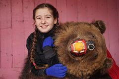 Free The Bear Girl At The Carnival 2 Stock Image - 137851091