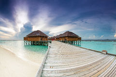 The Beautiful Hotel On The Water Stock Image