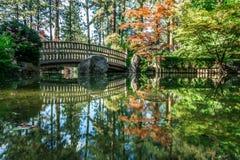 The Beautiful Japanese Garden At Manito Park In Spokane, Washingon Royalty Free Stock Image
