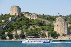The Beautiful View Of Rumeli Fortress, Istanbul, Turkey. Royalty Free Stock Image