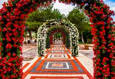 The Beautiful Walkway In The Park Stock Photography