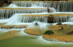The Beautiful Waterfall From Deep Forest,Thailand Stock Photography
