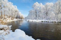 The Beautiful Winter Soft Rime Stock Photo