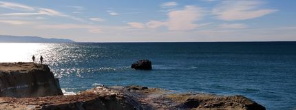 Free The Beauty View At The Seashore Of Santa Cruz California Stock Image - 135591661