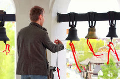 Free The Bell Ringer Ringing The Church Bells. Royalty Free Stock Image - 71324546