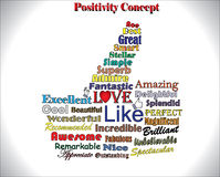 The Best Thumbs Up Concept Using Different Most Used Positive Objectives Stock Image