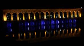 The Beysehir Stone Bridge At Night. Stock Photo