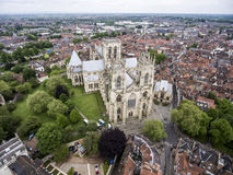 Free The Big Cathedral York Church Aerial Yorkshire 2 Stock Photography - 77759132