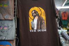 The Big Lebowski On A T-Shirt Royalty Free Stock Images