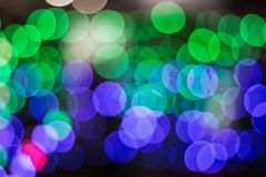 Free The Blue And Green Light Bokeh Soft Focus. Stock Images - 106986194