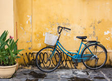 The Blue Bicycle On Street In Hoi An, Vietnam Royalty Free Stock Image
