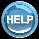 The Blue Button Labeled Help Royalty Free Stock Photo