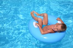 The Boy In Pool Royalty Free Stock Photos