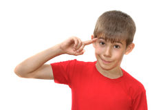 Free The Boy Shows Emotion Gestures Royalty Free Stock Image - 19967196