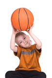 The Boy With A Basketball Ball Royalty Free Stock Photo