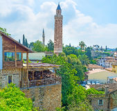 The Brick Fluted Minaret Royalty Free Stock Photography