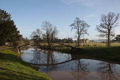 The Bridge At Croome Park Royalty Free Stock Image
