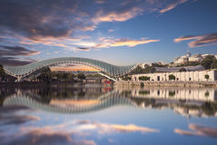 The Bridge Of Prace In Tbilisi. Royalty Free Stock Image