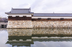 Free The Bridge To Entrance At Hiroshima Castle  With Wall To Protect Royalty Free Stock Images - 36470889