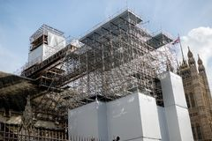 Free The British Houses Of Parliment Undergoing Renovation Stock Photography - 101303162