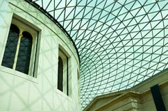 The British Museum - Geometrical Patterns On The Roof Stock Images