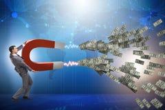 Free The Businessman Catching Dollars On Horseshoe Magnet Royalty Free Stock Image - 108538766