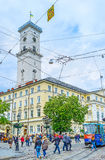 The Busy Square In Lvov Royalty Free Stock Photos