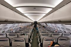 Free The Cabin Of A British Airways Airplane Travelling From Madeira FNC To Gatwick LGW - The Plane Is G-GATH, An Airbus A320-232 Royalty Free Stock Photos - 177361508