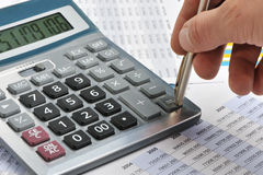 Free The Calculator And A Hand Of The Man Royalty Free Stock Image - 11376656