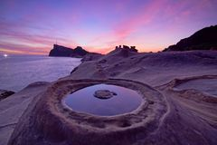 The Candle Of The Yehliu Geopark Stock Photography