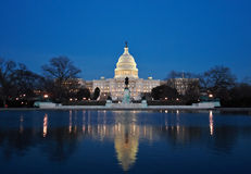 The Capitol At Night Stock Photography