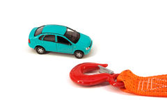 The Car And The Tow Rope Stock Photos