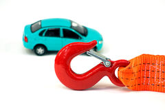 The Car And The Tow Rope Royalty Free Stock Photo