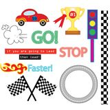 The Car Race Vector Pack Royalty Free Stock Photos