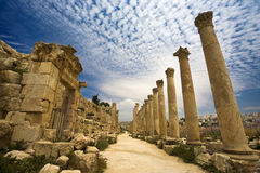 The Cardo In Jerash Stock Photo