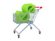 The Cart With Green Sign Dollar Inside Royalty Free Stock Photo