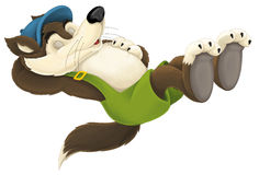 Free The Cartoon Wolf Stock Photo - 57634240