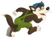 Free The Cartoon Wolf Stock Photography - 57634332