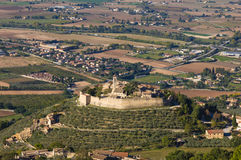 The Castle Of Campello Alto Sul Clitunno In Umbria Stock Photography