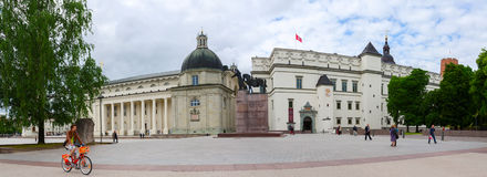 The Cathedral Square In Vilnius, Lithuania Stock Images
