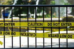 Free The Caution And Do Not Enter Sign Royalty Free Stock Photo - 15105045