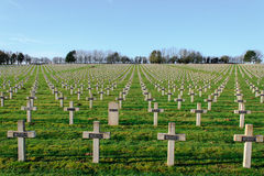 Free The Cemetery Of French Soldiers From World War 1 In Targette Royalty Free Stock Images - 49182989