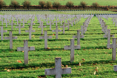 Free The Cemetery Of French Soldiers From World War 1 In Targette Stock Photos - 49183003