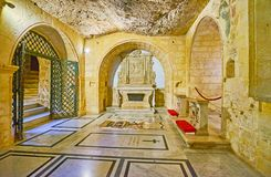 The Chapel In St Paul Grotto, Rabat, Malta Royalty Free Stock Image
