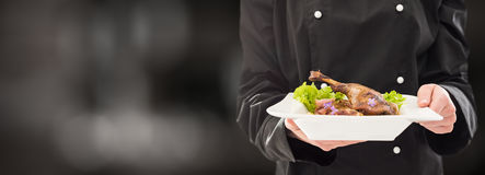 The Chef Keeps Perfect Made Dinner. Royalty Free Stock Photo