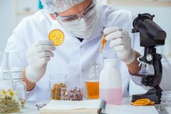 Free The Chemist Mixing Perfumes In The Lab Stock Image - 100306831