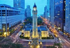 Free The Chicago Water Tower Stock Images - 63465554