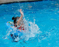 The Child Swimming Stock Photography