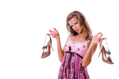 Free The Choice Of Shoes Is Very Difficultly. Stock Photos - 6393363